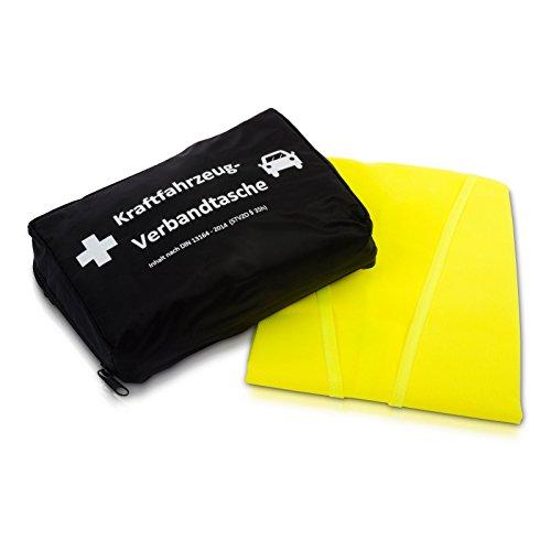 KFZ-Verbandtasche nach aktueller DIN 13164 | inkl. Warnweste gemäß EN 471