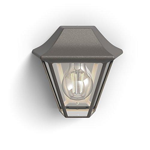 Philips 1738543PN, myGarden Wandleuchte Curassow (ohne Leuchtmittel), Aluminium, 42 watts, E27, Braun, 18.1 x 13.4 x 17 cm