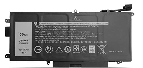 ASKC 60Wh K5XWW Laptop Battery for Dell Latitude 7389 5289 E5289 7390 2-in-1 L3180 Series Notebook 6CYH6 71TG4 725KY N18GG J0PGR 7.6V 4-Cell