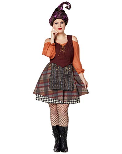 Adult Mary Sanderson Hocus Pocus Dress | OFFICIALLY LICENSED - 2X