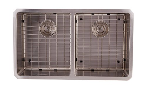 Hand Crafted Undermount Stainless Steel Double Bowl Kitchen Sink (DAX-3118B)