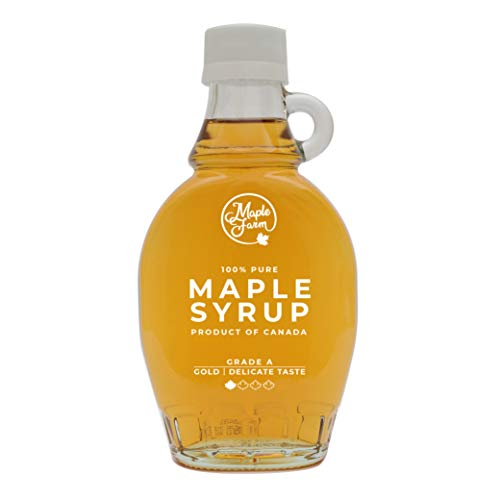 MapleFarm - Pur Sirop d'érable Catégorie A, Doré - goût délicat - 189 ml (250 g) - Original maple syrup - Grade A - Gold, delicate taste - Sirop d'érable pur - Pancake sirop