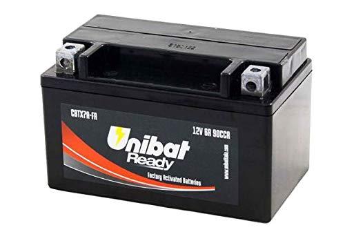 YTX7A-BS Batteria Moto Completa di Acido Pronta all Uso UNIBAT READY CBTX7A-FA