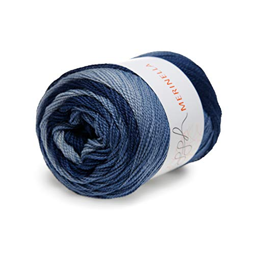 ggh Merinella Farbe:008 - Entenblau Dégradé, 100% Merinowolle (Superwash und Mulesing Free), 100g Wolle mit Farbverlauf