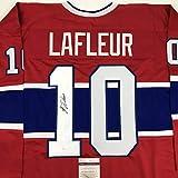 Autographed/Signed Guy LaFleur Montreal Red Hockey Jersey JSA COA