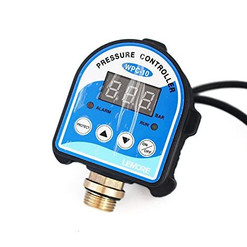 DONDOW Automático Electrónico Digital Display Presión controlador del interruptor de WPC-10 Compatible with el agua de la bomba de aceite del compresor de aire con 4' Adaptador WPC 10