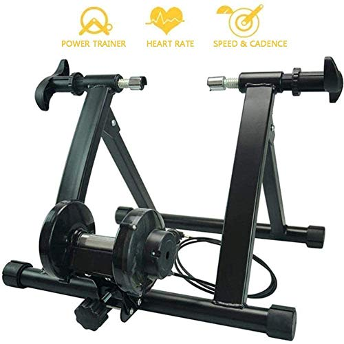 JLDN Bike Resistance Trainers, Indoor Bicycle Turbo Trainer w/ 7 Levels Resistance Wire Control Adjuster Bike Trainer Stand for Mountain & Road Bikes,Black