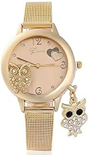 Fashion Watches Women's Wrist Watch Quartz Stainless Steel Gold Chronograph Cute Lovely Analog Ladies Bangle Fashion - Gold One Year Battery Life/SSUO 377