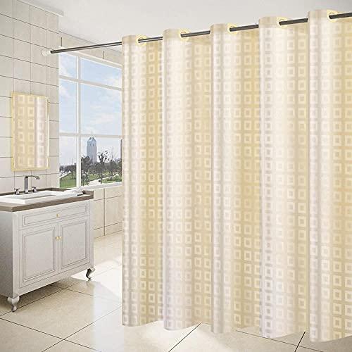 CCTYJ Cortina de la Ducha,Hotel Impermeable Thick Bathroom Simple Impresión Escudo Cortinas Baño Cortinas de Moho-240 Ancho x195 Alto cm