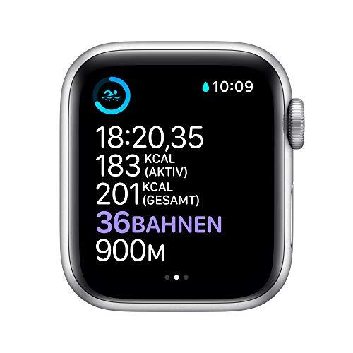 AppleWatch Series6 (GPS, 44mm) Aluminiumgehäuse Silber, Sportarmband Weiß