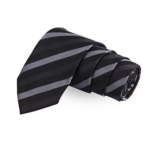 Peluche Stunning Alley Black Colored Microfiber Necktie For Men