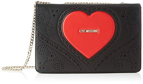 Love Moschino Damen Jc4216pp0a Umhängetasche, Schwarz (Black), 9x18x28 Centimeters