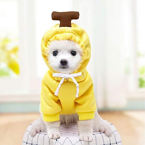 2020秋服 犬服 ブランド かわいい PETFiND 犬 犬の服 秋冬 コスプレパーカー りんご バナナ ニンジン にわとり XXL,バナナ XXL,バナナ XXL,バナナ