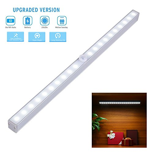 Automatic Universal 3 Switching Home Lighting Sensor Wireless Bright Light 10+10 LEDs Widely use for Storage Box, Wardrobe, Interior Decoration, Doorway, Display Bookshelf, Garage, Kitchen Etc. LDS09