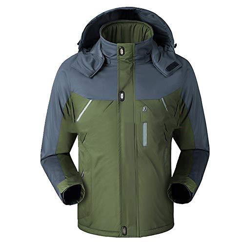 Chaqueta cortavientos de los hombres de felpa cálida chaqueta de los hombres desmontable sombrero cortavientos e impermeable chaqueta en otoño e invierno
