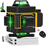 4x360 Cross Green Line Laser Level 16 Lines High Precision Auto Leveling Alignment Instrument Lifting Base Magnetic Wall Mount Bracket for Indoor Outdoor