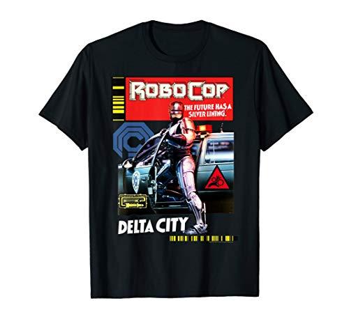 Official RoboCop Delta City Magazine Cover Poster T-Shirt, 3 Colors for Men or Women