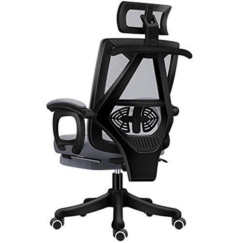 Bürostuhl Game-Racing Bürostuhl mit Netz, ergonomischer verstellbarer Drehstuhl, Liegestuhl, schwarz 3