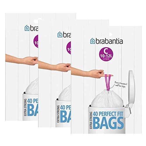 3x Brabantia Müllbeutel Spenderverpackung 12 l (C) 40 Stück