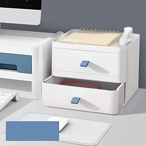 CJHH bureaublad plastic lade opbergdoos, kleine cosmetica opbergdoos, kantoor bureau briefpapier Rack, mooi en elegant, voldoen aan verschillende opslag behoeften, sparen ruimte