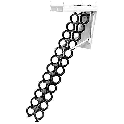 Vipjq electirc acctic Ladder Aluminum Folding 12-15ft Remote for loft