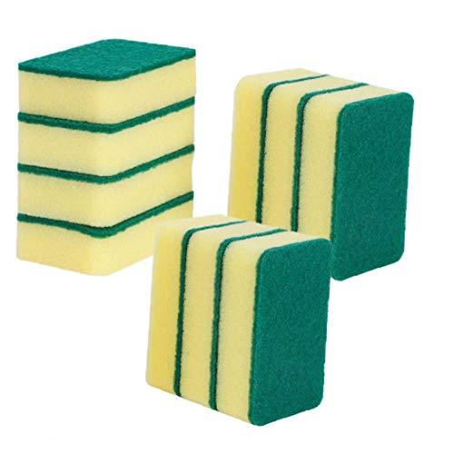 Nicedier 10pcs Exfoliante Esponja Creativa de Limpieza Borrador de la Esponja de la Esponja por Cocina Baño Muebles de jardín