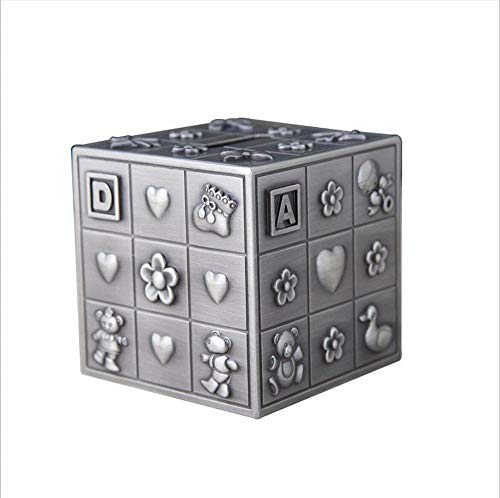 Hucha de Cubo de Rubik de Tercer Orden,Hucha de Monedas,artesanías exquisitas Europeas de Metal de Alta Gama,Adornos,regalos-3x3x3...