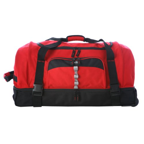 """Olympia Luggage 30"""" Rollling Duffle,Red,One Size"""