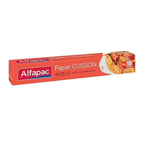 ALFAPAC - Papier cuisson 18M - Anti-adhérent - Démoulage facile - Fabriqué en France