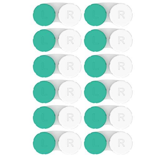 Kontaktlinsenbehälter 12 Pack. Jahresvorrat. 2020 Verbessertes Design/Qualität