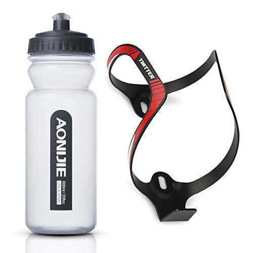 GES Bike Bottle Cage,Ultra-light Alloy Aluminum Universal Bike Water Bottle Holder,Mountain Bike Bottle,Cycling Kettle Holder Cage Kit,Great for Outdoor Road Bike and Mountain Biking.