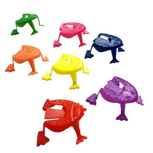 TOYANDONA 100 Stück Springender Frosch Spielzeug Plastik Springende Frösche Finger Drücken Kinder Party Gefälligkeiten für Ostern Geburtstage Partys Und Schulpreise