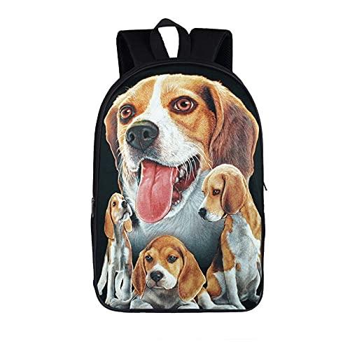 Mochila para Perros Beagle para Adolescentes, niños, niñas, Mochilas Escolares, Mochila para portátil, Mochila para niños, Mochilas Escolares B