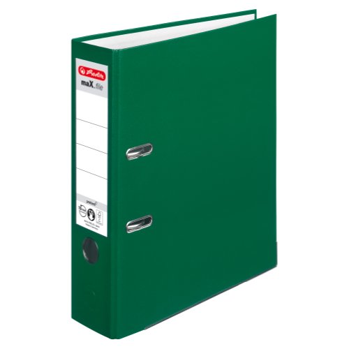 Herlitz 5480504 Ordner maX.file protect A4 (8 cm mit Einsteckrückenschild) grün