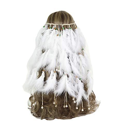 casue, dames, pauwe, hippie hoofdband, veer, Indiase design, haaraccessoires, bohemian, hippie accessoires, Stijl #1