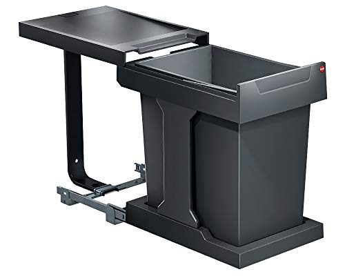 HAILO Abfallsorter SOLO 20 - slate-grey - ab 30 cm Schrankbreite/Abfalleimer/Abfallsammler/Mülleimer
