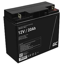 GreenCell® Rechargeable Batterie AGM 12V 20Ah accumulateur au Gel Plomb Cycles sans Entretien VRLA Battery étanche…