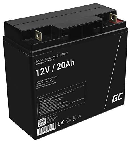 Green Cell® AGM 12V 20Ah Akku VRLA Blei-Batterie Bleiakku Ersatzakku Gelakku Akkubatterie Zyklenfest Unbemann Caravan | Photovoltaik | Rollstuhl | Solarspeicher| Solarbatterie | Solarpanel | Wohnwagen