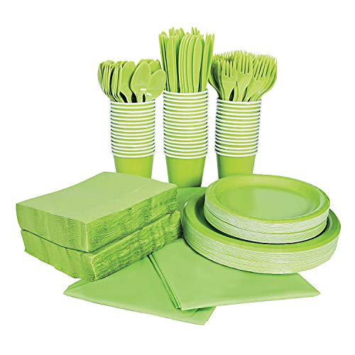 For Sale! LIME TABLEWARE PARTY PACK FOR 48 - Party Supplies - 396 Pieces