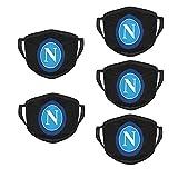 S.S.C. ナポリ マスクは面白いファッションがあります。水洗いして空気を通す布マスクを5つ使います