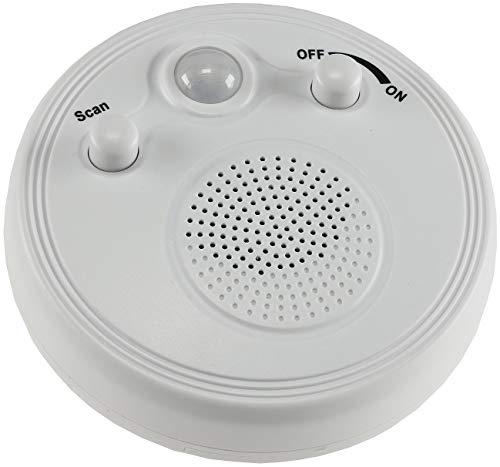 Wand Decken Radio mit Bewegungsmelder 360° Sensor Ø 95mm Batterie 3x AA Weiß *Neue Version*