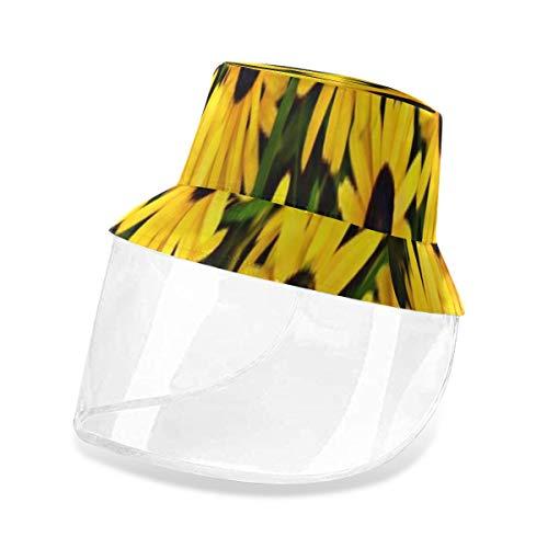 VNASKL Outdoor Black Eyed Susan Flower Yellow Daisy Summer Garden Mens Woman Sun Protection Fishing Hats for Men Sun Protection Fashion Outdoor PVC Shelter Camping Hat Bucket Hats for Teens
