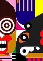igsticker ポスター ウォールステッカー シール式ステッカー 飾り 841×1189㎜ A0 写真 フォト 壁 インテリア おしゃれ 剥がせる wall sticker poster 000936 ユニーク イラスト 派手