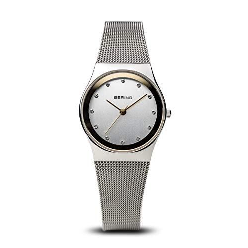 BERING Reloj Analógico para Mujer de Cuarzo con Correa en Acero Inoxidable 12927-010