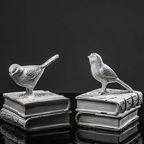 XCJJ Sujetalibros nórdicos Soporte Decorativo Hogar Sala de estar Libros Documentos Artesanía Estudio Adornos 19.5X14X11.5Cm Estantería