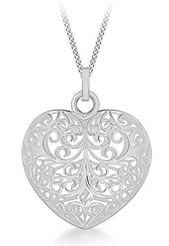 Tuscany Silver Collana con Pendente da Donna in Argento Sterling 925, 46 cm
