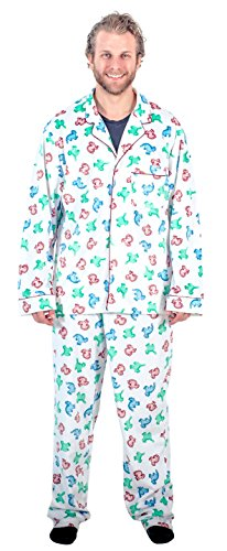 National Lampoon s Christmas Vacation Clark s Dinosaur Pajama Set (Adult X-Large)