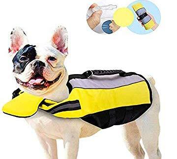 Pet Life Jacket Gilet de Sauvetage pour Chien Lifesaver Sécurité Gilet Réfléchissant Taille Réglable Dog Lifejacket pour Natation Surf Bateau de Chasse - M