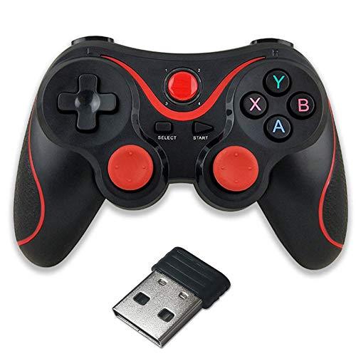 RUIHUA Joystick Gamepad Controlador de Juegos inalámbrico Bluetooth portátil con el Receptor para Android iOS teléfonos móviles Juego Pc Mango