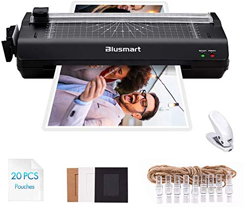 7 in 1 Blusmart Deluxe Laminator Set, A4, Trimmer, Corner Rounder, 20 Laminating Pouches, Photo...